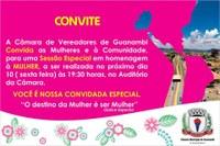 Câmara de Guanambi faz homenagens às mulheres em sessão especial