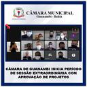 CÂMARA DE GUANAMBI INICIA PERÍODO DE SESSÃO EXTRAORDINÁRIA COM APROVAÇÃO DE PROJETOS