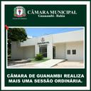 CÂMARA DE GUANAMBI REALIZA MAIS UMA SESSÃO ORDINÁRIA.