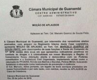 Câmara entrega moção ao Coronel Marcelo
