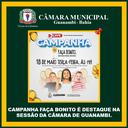 CAMPANHA FAÇA BONITO É DESTAQUE NA SESSÃO DA CÂMARA DE GUANAMBI.