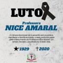 LUTO: FALECIMENTO DA PROFESSORA  NICE AMARAL.