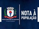 NOTA À POPULAÇÃO