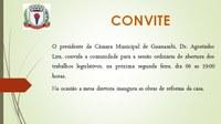 Presidente da Câmara, Dr. Agostinho convida população para Sessão Ordinária