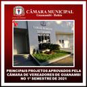 PRINCIPAIS PROJETOS APROVADOS PELA CÂMARA DE VEREADORES DE GUANAMBI NO 1º SEMESTRE DE 2021