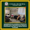 REQUERENTES DA AUDIÊNCIA PÚBLICA SE REÚNEM COM O PRESIDENTE DA CÂMARA E ASSESSORIA CONTÁBIL DA PREFEITURA DE GUANAMBI