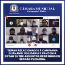 TEMAS RELACIONADOS À CAMPANHA GUANAMBI SOLIDÁRIA E PANDEMIA ESTÃO ENTRE ASSUNTOS DEBATIDOS EM SESSÃO PLENÁRIA.
