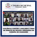 VIOLÊNCIA CONTRA A MULHER É TEMA DE DEBATE NA SESSÃO ORDINÁRIA DA CÂMARA DE GUANAMBI