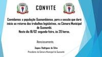 Câmara de Guanambi vai abrir período legislativo